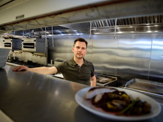 Phillip Stone, co-owner of Riverview, poses in the kitchen Wednesday, May 2, 2018 in Burlington, N.J.