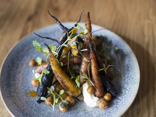 Wood-roasted carrots at Hearthside.