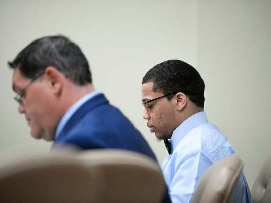 Tyhan Brown and attorney Adam Brent