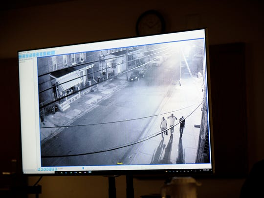Surveillance footage shows the moments leading up to