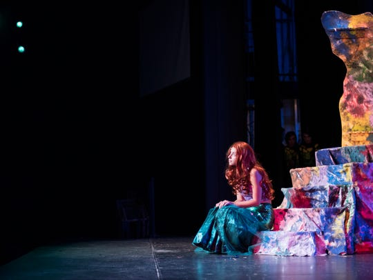 Summer Stage gives young people to gain experience on and backstage. Camper Stephanie Masapollo plays Ariel in a rehearsal of 'The Little Mermaid.'