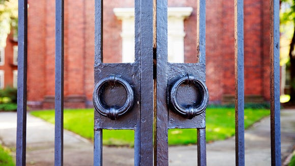 Harvard University's iron gate. (Photo: Getty Images)