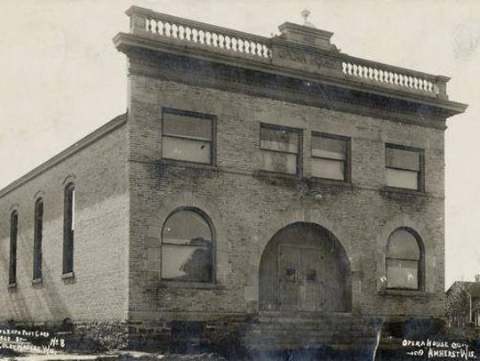A photo of the Amherst Opera House from 1903, a year