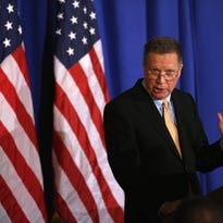 Republican Presidential candidate John Kasich speaks at the Women's National Republican Club on April 12 in New York City.