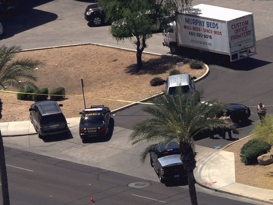 The shooting occurred at about 11:30 a.m. near McDowell and Litchfield roads in Goodyear, according to authorities.