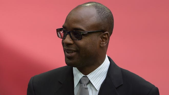 Detroit Lions vice president of pro personnel Sheldon White attends the  game against the Atlanta Falcons at Wembley Stadium.