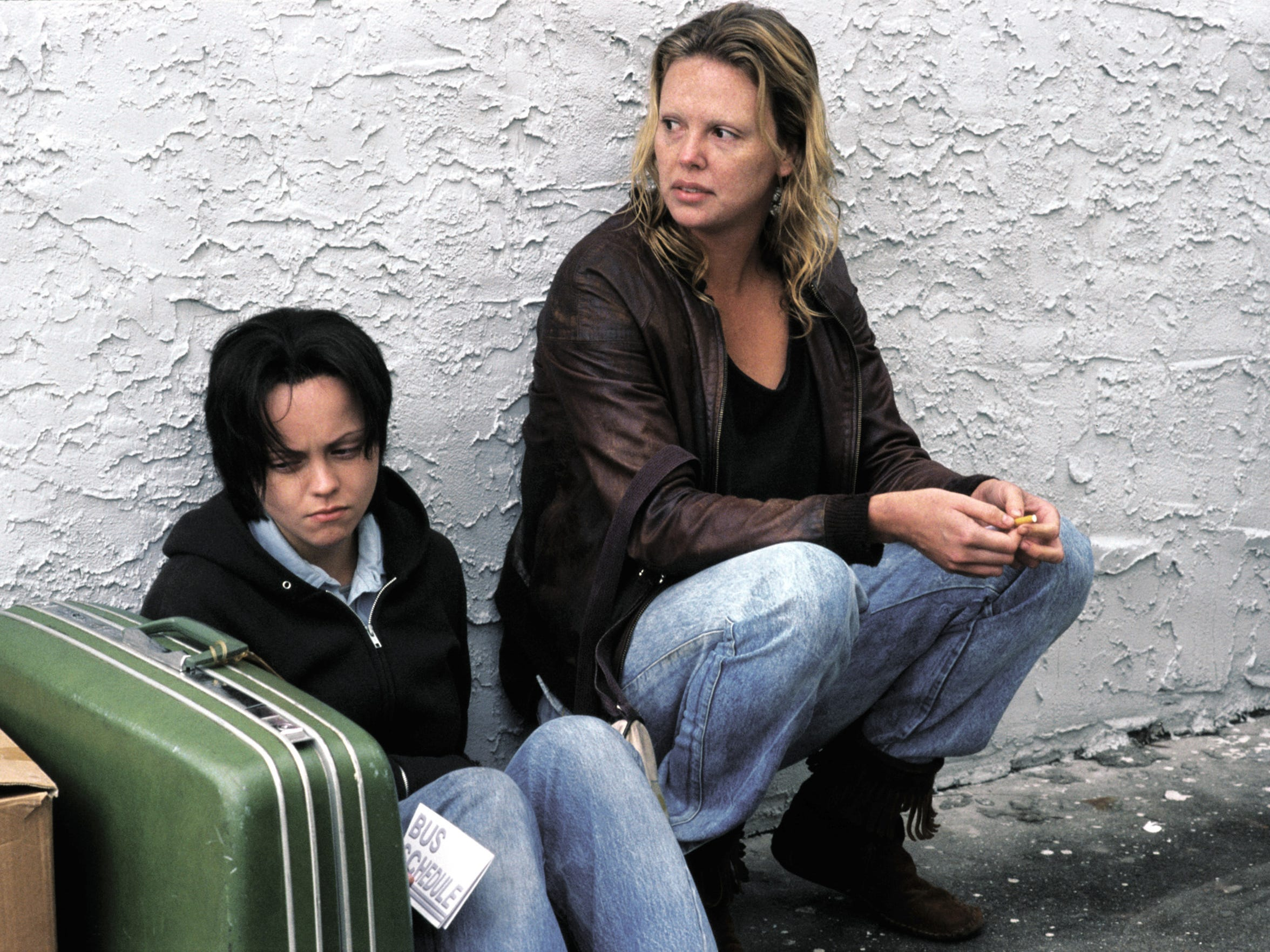 "Charlize Theron and Christina Ricci in a scene from the motion picture ""Monster."""