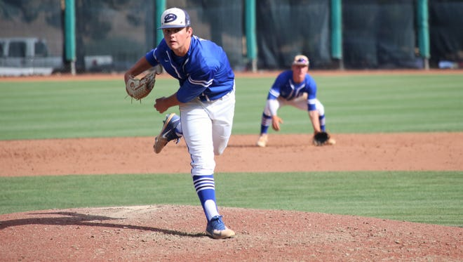 Dixie's Cooper Vest, as well as Desert Hills' Drew Thorpe, are the only Region 9 players that lead in both pitching and hitting categories.