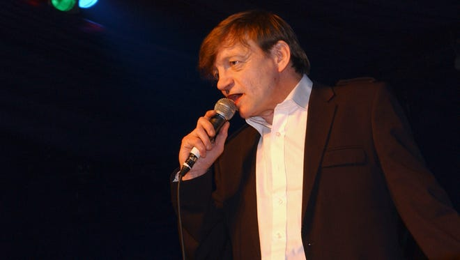 Mark E Smith of The Fall performs at the Hammersmith Palais on April 1, 2007 in London.
