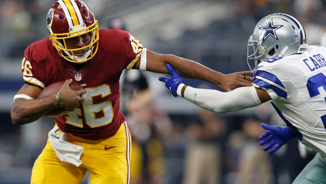 Running back Alfred Morris is leaving the Washington Redskins for the Dallas Cowboys.