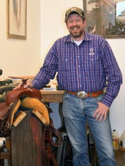 Craig Wiegand, Owner of Twisted Fork Saddle Shop in Eagle, WI was special guest at SKMHTA's Saddle Cleaning Party