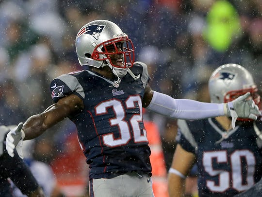 Devin McCourty celebrates during the AFC Championship