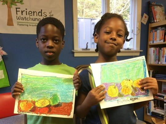 Joshua Joseph, 8, and Josenia Joseph, 7, of Watchung