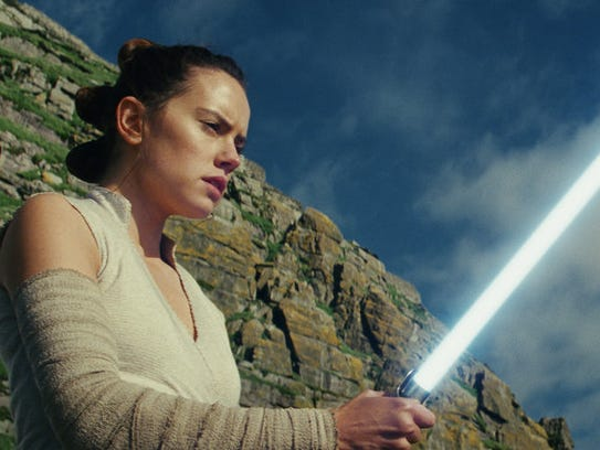 This image released by Lucasfilm shows Daisy Ridley
