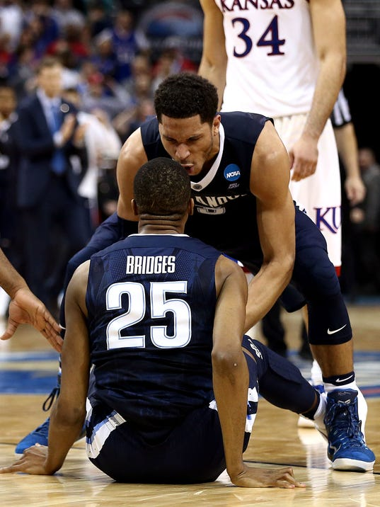 NCAA Basketball: NCAA Tournament-South Regional-Kansas vs Villanova