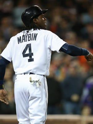 Detroit Tigers OF Cameron Maybin.