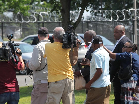 Spring Valley Mayor Demeza Delhomme is surrounded by