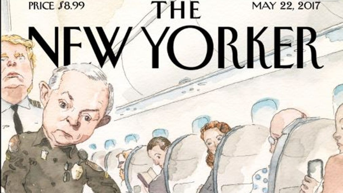 Comey gets the 'United' treatment on 'New Yorker' cover