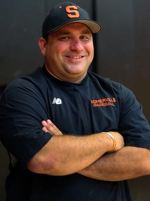 Somerville's Chris Banos is the Courier News Baseball Coach of the Year.