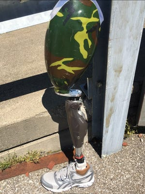 Louisville police was looking for the owner of this prosthetic leg, which was recovered with other suspected stolen property. June 19, 2018