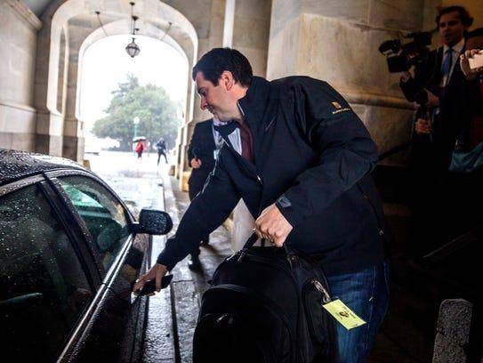 Devin Nunes exits the U.S. Capitol after releasing