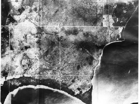 Predevelopment Cape Coral prior to 1958.