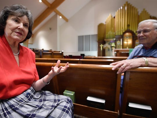 Yvonne, left, and Bob Falkenstine are longtime members of Zion Lutheran Church. They were married at the church in 1961 when it was located downtown. They remained congregants after the church moved to Manchester Township in 1995. They witnessed a full church in the city, its decline to fewer than 100 members and participated in the expansion to 1,300 members at the new location.