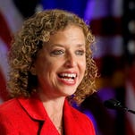 This Aug. 23, 2013, photo shows Democratic National Committee chair, Rep. Debbie Wasserman Schultz, D-Fla. speaking in Scottsdale.