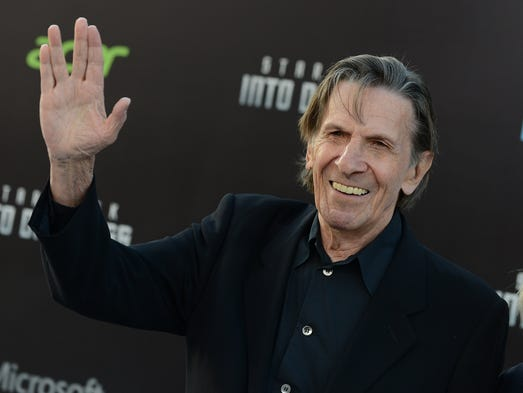 Leonard Nimoy best known as Mr. Spock from the original