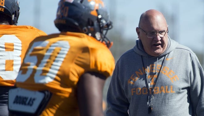 Mike DeBord's Tennessee offense set a school record for points scored this past season.