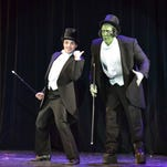 Anthony Connell (left) plays Frederick Frankenstein to David McConney's Monster.