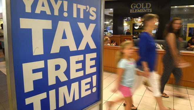 It's sales a tax-free shopping weekend in Virginia from Aug. 3-5.