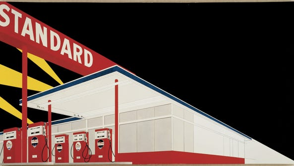 This pop art work is 'Standard Station, Amarillo, Texas,