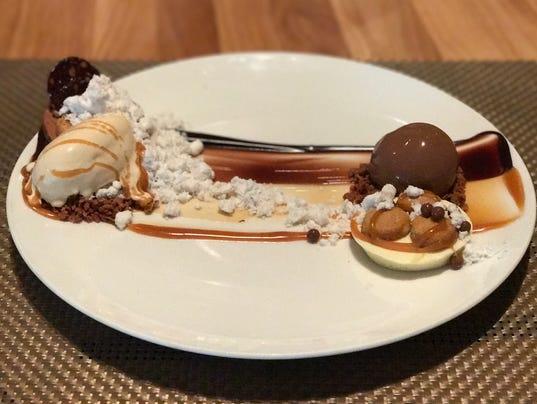 Deconstructed Snickers Bar dessert