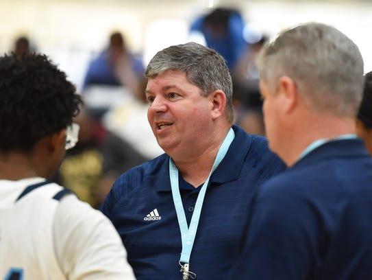 Ridgeland head coach Wade Hawkins gives instructions