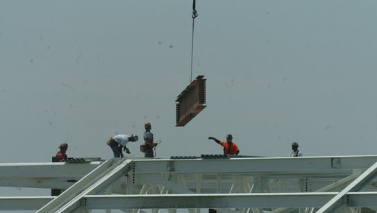 Construction workers at American Dream Meadowlands