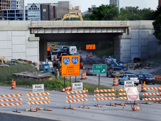In this June 14, 2014 file photo, inbound Kennedy Expressway