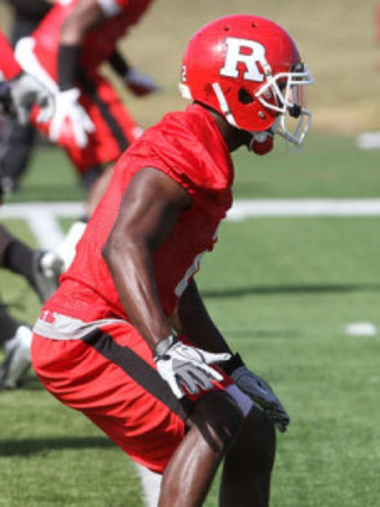 Gareef Glashen has started the first four games at cornerback for Rutgers but is listed as questionable for Saturday. (File photo)