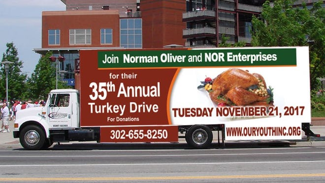 Norman Oliver's annual turkey drive will seek a record-breaking 5,000 turkeys, this year.