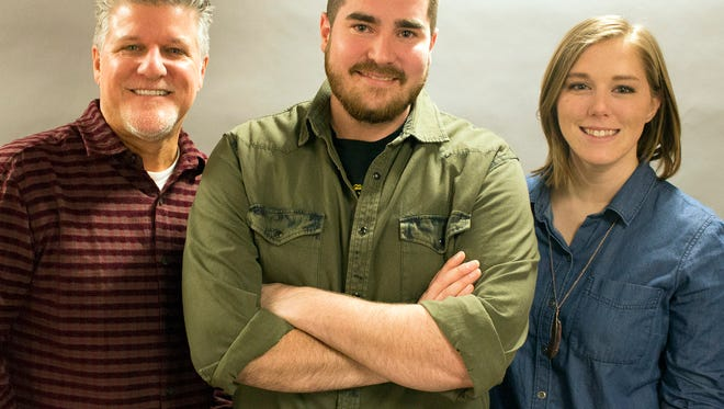 """Ridder, Scott and Shannen"" - Shaun Ridder (from left), Scott Dolphin and Shannen O - are the new morning show on WMIL-FM (106.1) in Milwaukee."