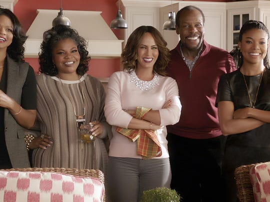 "(L to R) Cheryl (Kimberly Elise), Aunt May (Mo'Nique), Sonya (Nicole Ari Parker), Walter (Danny Glover) and Rachel (Gabrielle Union) in ""Almost Christmas."""