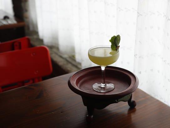 Laab Sided, a cocktail, at Glai Baan, a Thai restaurant,