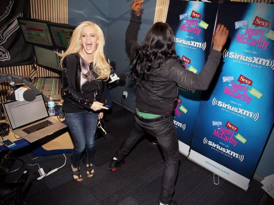 Jenny McCarthy Hosts Her SiriusXM Show 'Dirty, Sexy, Funny With Jenny McCarthy' Live From The SiriusXM Studios In Los Angeles