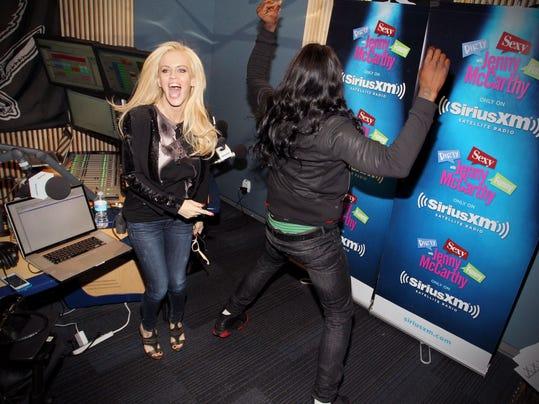 Jenny McCarthy Hosts Her SiriusXM Show 'Dirty, Sexy, Funny With Jenny McCarthy' Live From The SiriusXM Studios In Los Angeles