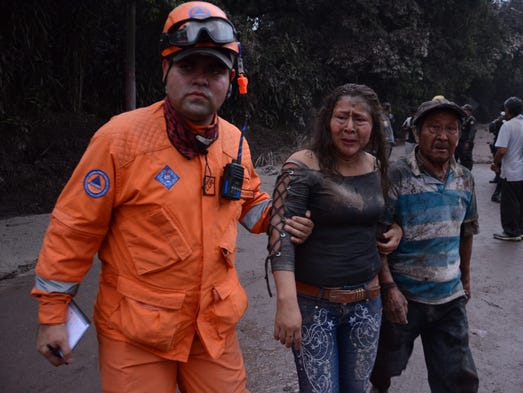 A worker from the National Coordinator for Disaster
