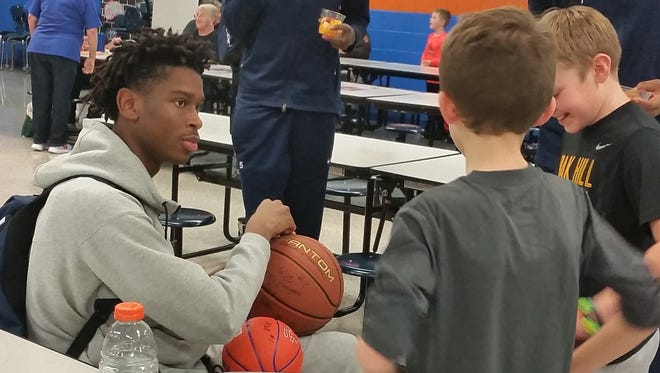 Kentucky signee Shai Alexander was so popular at the Marshall County Hoop Fest that young fans even came into the hospitality room wanting his autograph.
