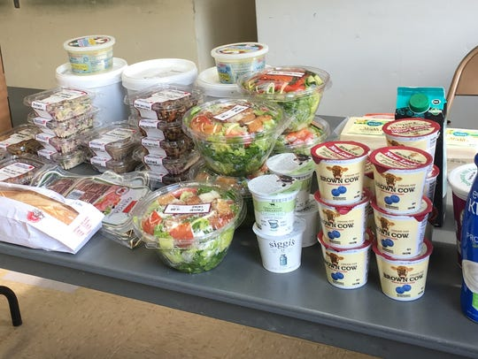 A typical grocery store run from Second Chance Food