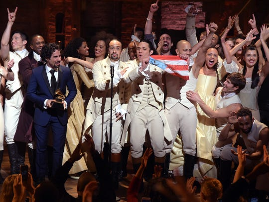 The 'Hamilton' cast performed live via satellite from