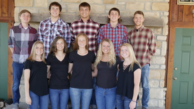 Elgin's Homecoming King and Queen will be crowned at 6:30 p.m. Friday, Oct. 6, before the game vs. Hardin Northern. The dance will take place from 8 to 11 p.m. Saturday at the school. The 2017 Homecoming Court includes, from left, front,Hannah Shanaberger, Autumn Landon, Amy Hafer, Lauren VanGundy, and Sarah Wasserbeck; and back,Zac Collins, Jordan Brown, Ethan Backensto, Tyler Nicholsand Harrison Metcalf.