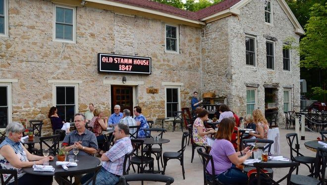 1847 at the Stamm House features one of the largest patios in Middleton.